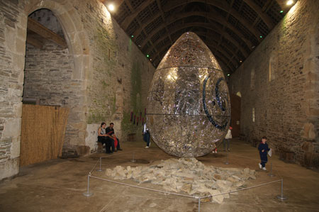 Buckland Abbey, egg of Andrew Logan