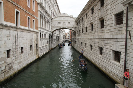 Venice. The Bridge of Sighs.